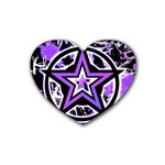 Purple Star Rubber Heart Coaster (4 pack)