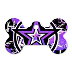 Purple Star Dog Tag Bone (Two Sides)