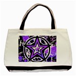 Purple Star Basic Tote Bag (Two Sides)