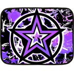 Purple Star Double Sided Fleece Blanket (Mini)