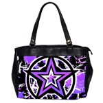 Purple Star Oversize Office Handbag (2 Sides)