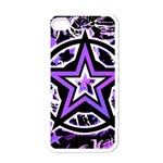 Purple Star iPhone 4 Case (White)