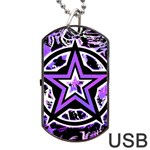 Purple Star Dog Tag USB Flash (One Side)