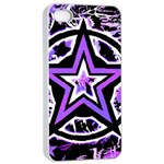 Purple Star iPhone 4/4s Seamless Case (White)