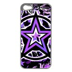 Purple Star iPhone 5 Case (Silver)