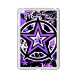 Purple Star Apple iPad Mini 2 Case (White)