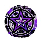 Purple Star Standard 15  Premium Round Cushion