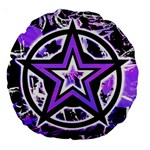 Purple Star Large 18  Premium Round Cushion