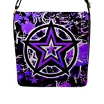 Purple Star Flap Closure Messenger Bag (L)