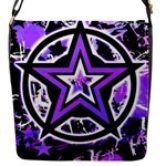 Purple Star Flap Closure Messenger Bag (S)
