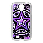 Purple Star Samsung GALAXY S4 I9500/ I9505 Case (White)