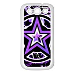 Purple Star Samsung Galaxy S3 Back Case (White)