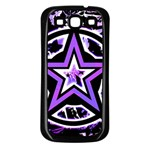 Purple Star Samsung Galaxy S3 Back Case (Black)