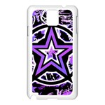 Purple Star Samsung Galaxy Note 3 N9005 Case (White)