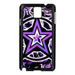Purple Star Samsung Galaxy Note 3 N9005 Case (Black)