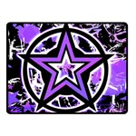 Purple Star Double Sided Fleece Blanket (Small)