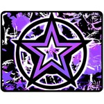 Purple Star Double Sided Fleece Blanket (Medium)