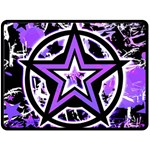 Purple Star Double Sided Fleece Blanket (Large)