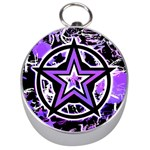 Purple Star Silver Compass