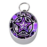 Purple Star Silver Compass (Mini)
