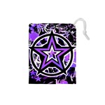 Purple Star Drawstring Pouch (Small)