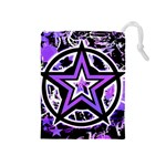 Purple Star Drawstring Pouch (Medium)