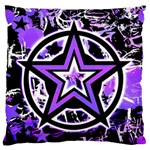 Purple Star Large Flano Cushion Case (One Side)