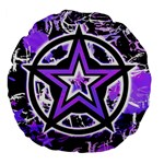 Purple Star Large 18  Premium Flano Round Cushion