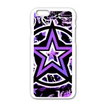 Purple Star iPhone 6/6S White Enamel Case