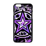Purple Star iPhone 6/6S Black Enamel Case