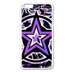 Purple Star iPhone 6 Plus/6S Plus Enamel White Case