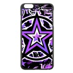 Purple Star iPhone 6 Plus/6S Plus Black Enamel Case