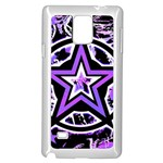 Purple Star Samsung Galaxy Note 4 Case (White)