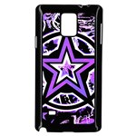 Purple Star Samsung Galaxy Note 4 Case (Black)