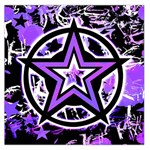 Purple Star Large Satin Scarf (Square)