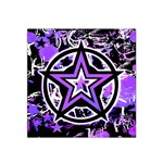 Purple Star Satin Bandana Scarf
