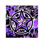 Purple Star Small Satin Scarf (Square)