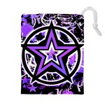Purple Star Drawstring Pouch (XL)