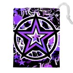 Purple Star Drawstring Pouch (XXL)