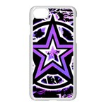 Purple Star iPhone 7 Seamless Case (White)