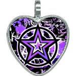 Purple Star Heart Necklace