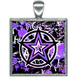 Purple Star Square Necklace