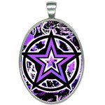 Purple Star Oval Necklace