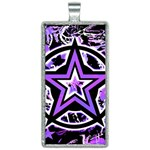 Purple Star Rectangle Necklace