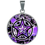 Purple Star 30mm Round Necklace