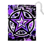 Purple Star Drawstring Pouch (XXXL)