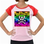 Rainbow Skull Women s Cap Sleeve T-Shirt