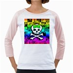 Rainbow Skull Girly Raglan
