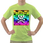 Rainbow Skull Green T-Shirt