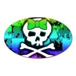 Rainbow Skull Magnet (Oval)
